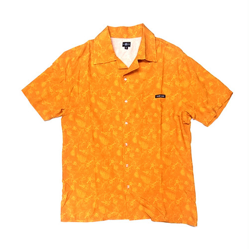 HARD LUCK - VACAY BUTTON UP (Orange)