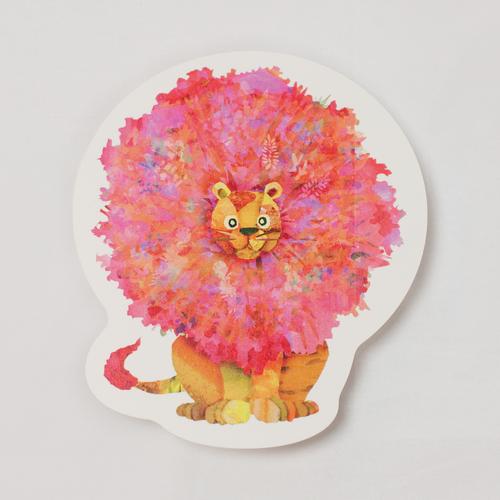 【型抜きカード】ZOO -アフリカライオン-