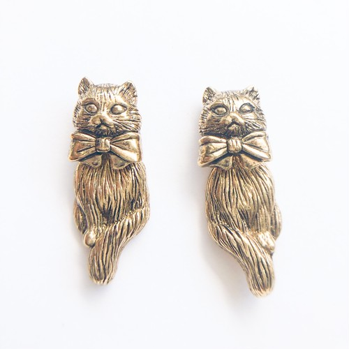 """AVON"" Novelty Cat pierce[p-665] ヴィンテージピアス"