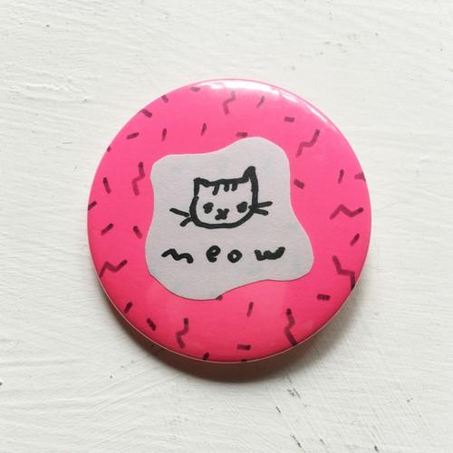 コラージュ缶バッジ「meow」