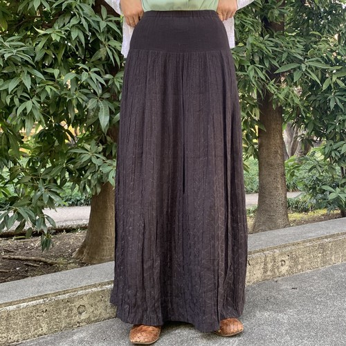 (LOOK) crinkle maxi skirt