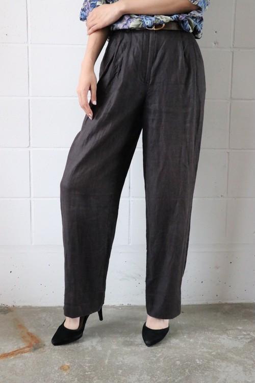 DKNY black linen pants