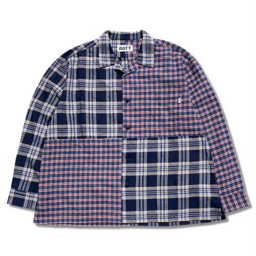 Box Flannel Shirt(blue)