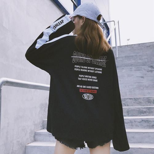 【トップス】長袖アルファベットストリート系Tシャツ21570731