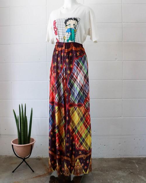 multi pattern wide easy pants
