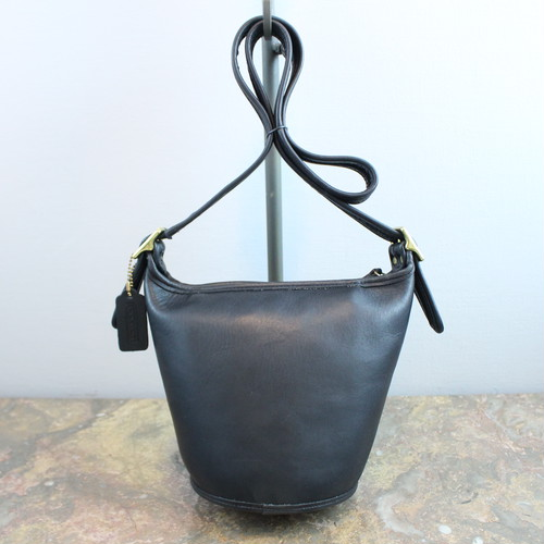 .OLD COACH BACKET TYPE LEATHER SHOULDER BAG MADE IN USA/オールドコーチバケツ型レザーショルダーバッグ 2000000035284