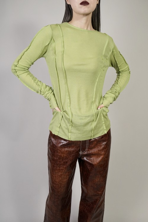 INSIDEOUT SWITCHING L/S TOPS  (GREEN) 2103-42-8