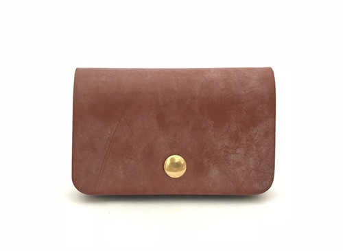 RE.ACT Bridle Leather Card Case Hazel
