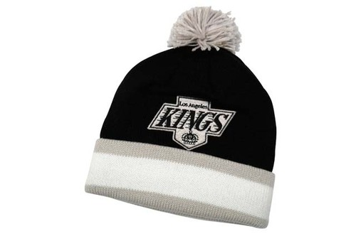 大好評により再入荷!MITCHELL&NESS CUFFED KNIT CAP (POM/NHL/Los Angeles Kings: BLACK)