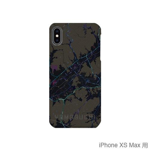 【山口】地図柄iPhoneケース(バックカバータイプ・ブラック)