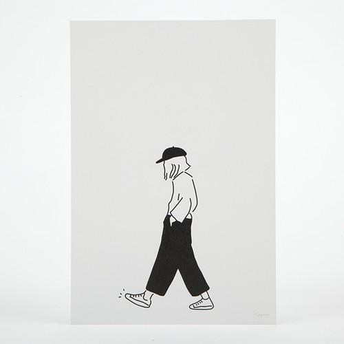 ポストカード/boyish girl
