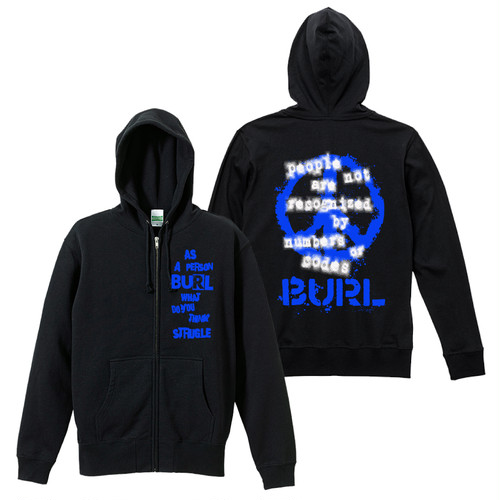 THOUGHT HOODIE (ZIP-UP/BLACK)