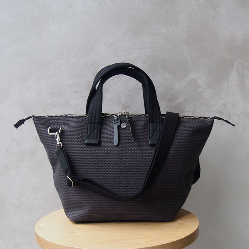 CaBas N°33 Bowler bag small + Shoulder strap Gray/Black