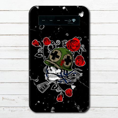 #000-031 モバイルバッテリー ホラー おしゃれ セール スカル iphone スマホ 充電器 タイトル:果たせぬ想い