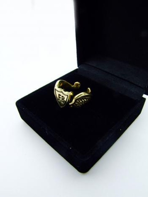 FLASHBACK JAPAN MADE Sheild Brass Ring