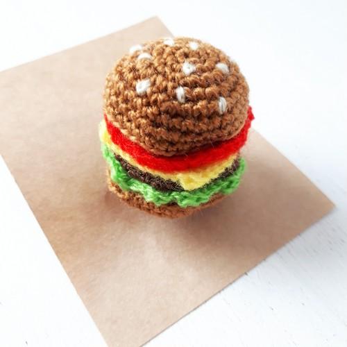 編み編みモチーフ☆ハンバーガーゴム