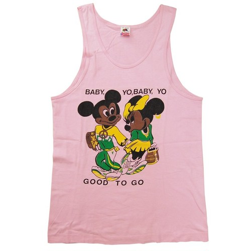 """Mickey & Minnie"" Vintage Bootleg Tank-top Used"
