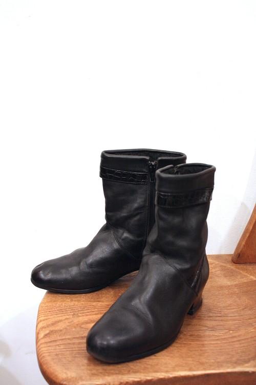 1990's〜サイドジップショートブーツ 黒