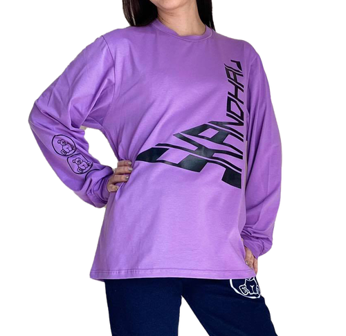 【SKANDHAL】ROMA ロングスリーブTシャツ【ライラック】【新作】イタリアンウェア《M&W》