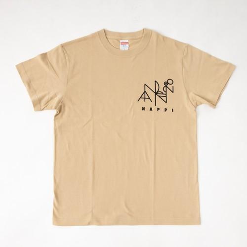 オリジナルTシャツ【NAPPI 28】ライトベージュ <2020年モデル>