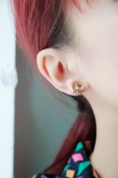 Christian Dior logo earrings
