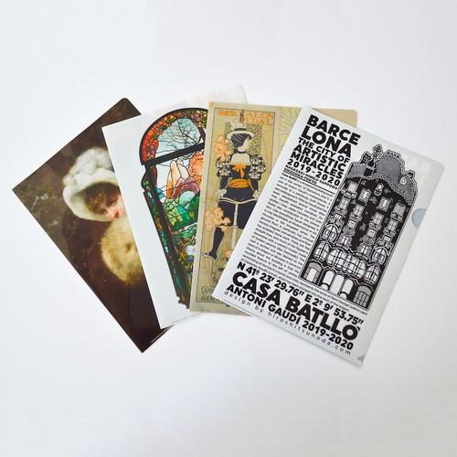 「奇蹟の芸術都市 バルセロナ」展 クリアファイル4種セット