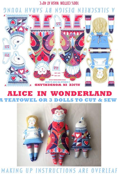 Alice in Wonderland Tea Towel / Cloth Kit
