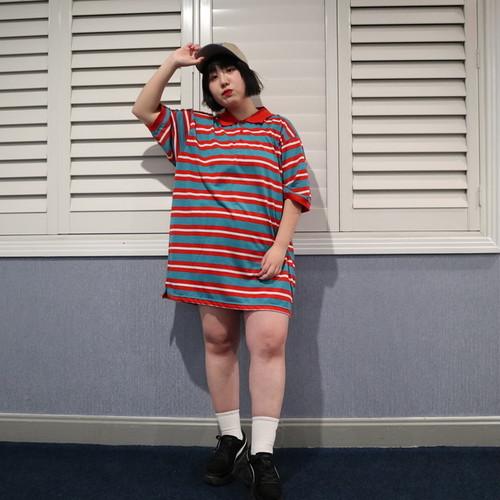 【そわんわん】ボーダーポロTシャツ