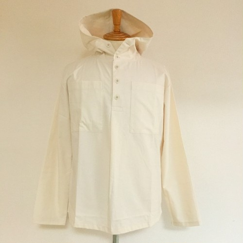 Cotton Cloth Anorak Parker Shirt Kinari