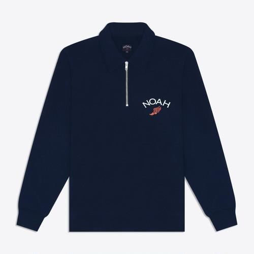 Winged Foot Pull-Over Zip Sweatshirt(Navy)