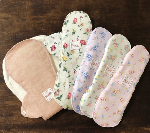【Agatis 初めての布ナプキンセット】生理用ナプキン5枚セット
