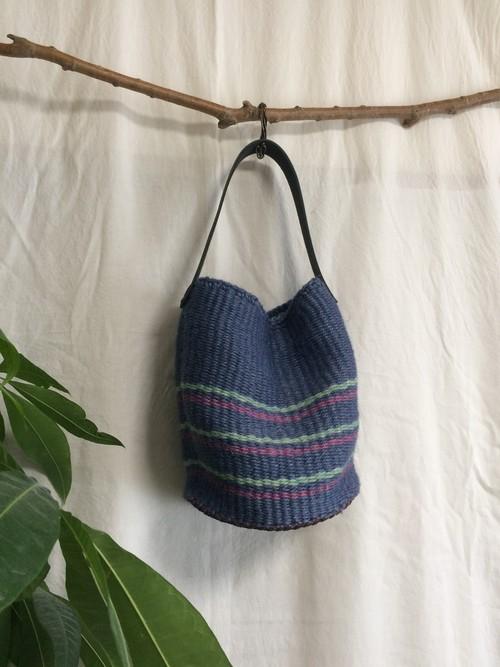 <安価版>輪織りで楽しむ、まん丸革底バケツバッグキット
