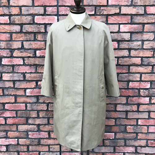 1980s Burberrys WM Balmacaan Coat UK12 Long Made In England