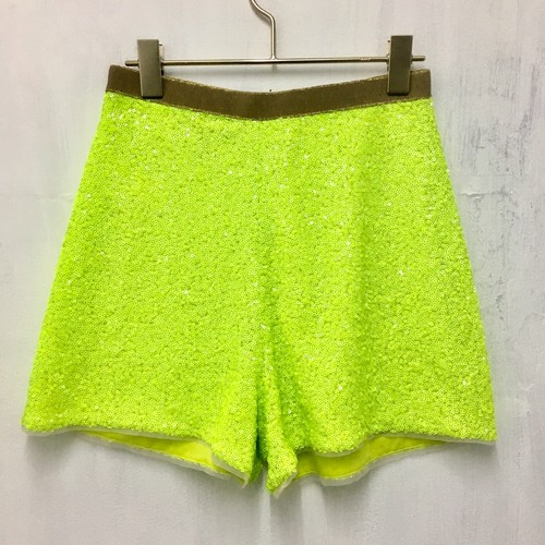 spangle high waist short pants