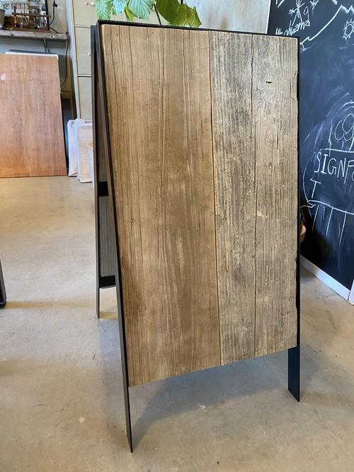 ブラックフレーム木材A型看板