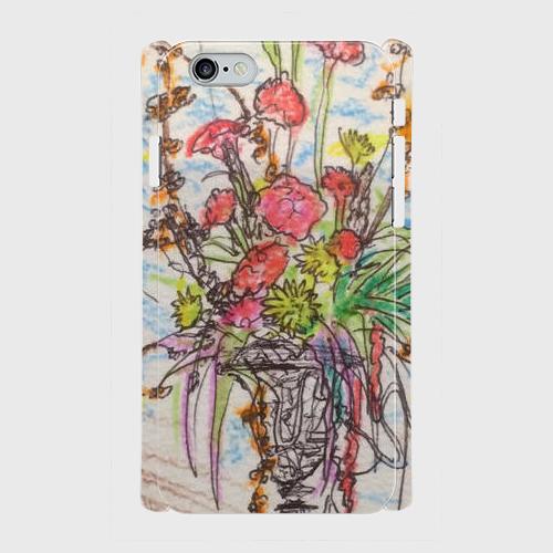 zhs0007-amaranthus側表面印刷スマホケース iPhone6/6sツヤ有り(コート)