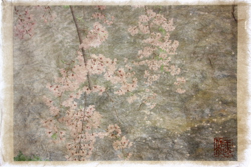 Shunsai Yonemura's artwork 春の川面、京都 Surface of the water in spring, Kyoto