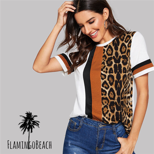【FlamingoBeach】leopard T shirt レオパード ティシャツ