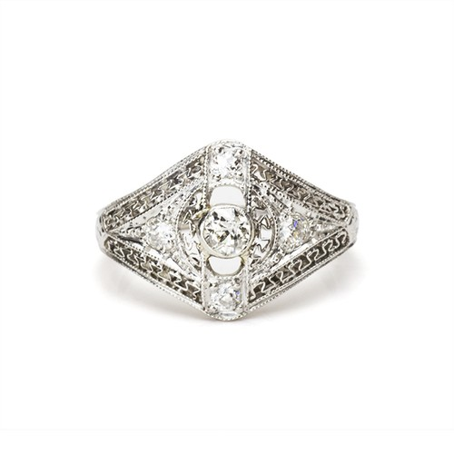 Belle Époque Diamond Lace Ring
