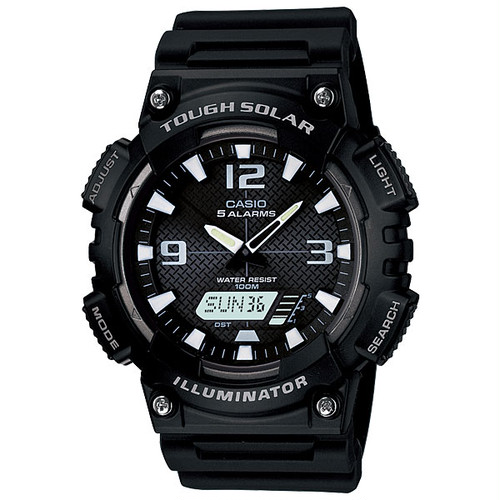 カシオ CASIO アナログ×デジタル ソーラー 腕時計 AQ-S810W-1A ブラック