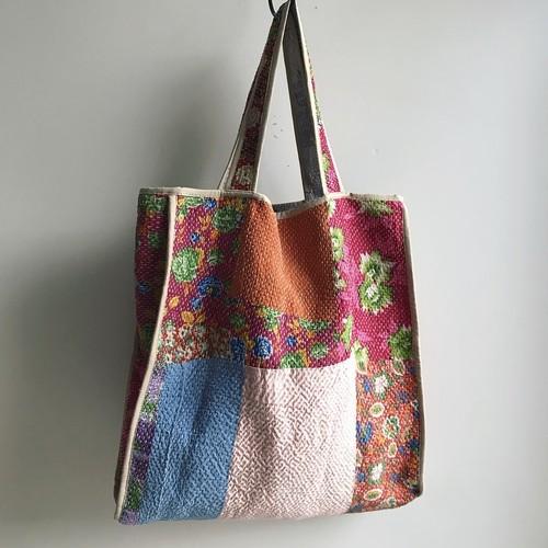 タッセル付 Antique 'Sashiko' Bag #2
