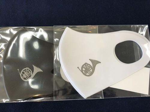 楽器柄マスク(ホルン)