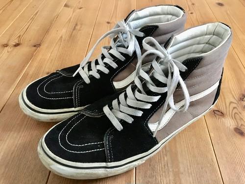 vans バンズ skate hi スケートハイ ブラック×グレー black gley US9.5 27.5cm