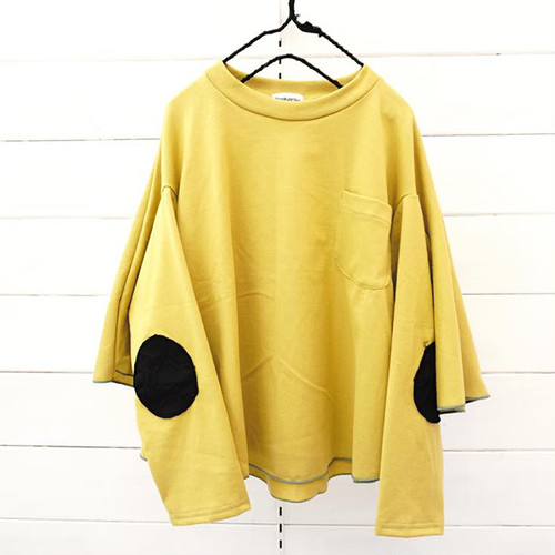 PONCH L/S TEE -BEAR MT ELBOW PATCH