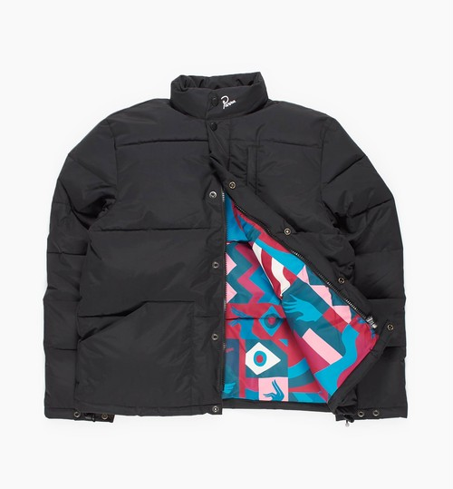 by Parra - puffer jacket grab the flag pattern