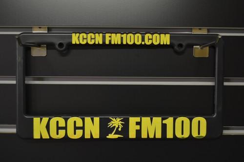 KCCN FM100 Licence plate frames