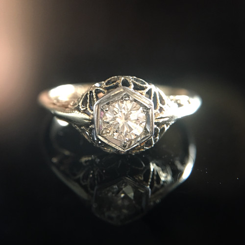 Diamond Filigree Ring