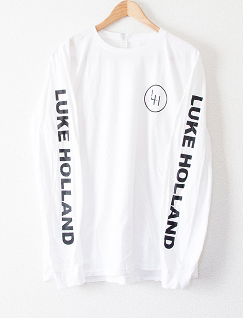 【LUKE HOLLAND】Logo Long Sleeve (White)