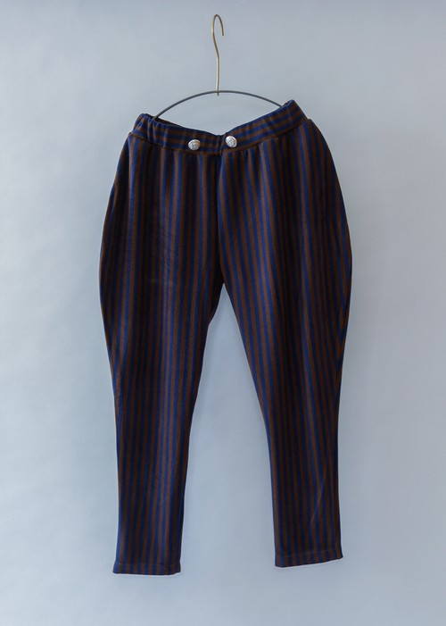 《michirico 2019AW》Stripe pants / navy × charcoal / S・M