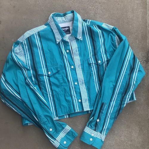 【Remake】Cropped Stripe Shirt